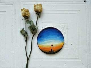 🚚 手繪陶瓷【夕陽/氣球】