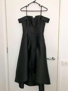 Black sabrina cocktail dress