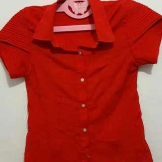 #1010 kemeja merah cabai