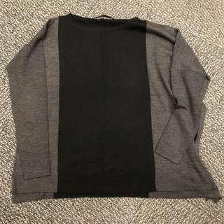 giordano ladies 超闊身不規則長中袖薄針織上衣