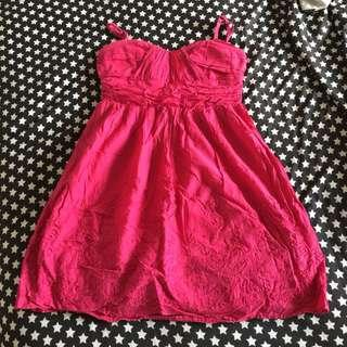 Fushia pink dress