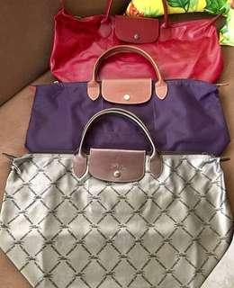 Authentic Longchamp Medium Short Handle Bags