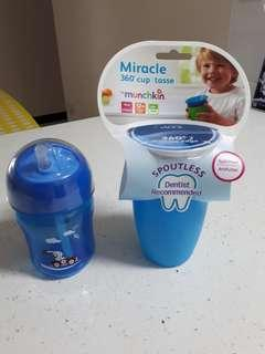 Philips Avent Straw Cup & Munchkin Spoutless Cup