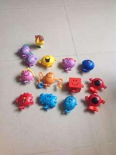 Set of McDonald's mr men and little miss characters