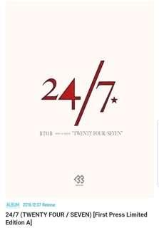 BTOB Japanese Album Limited Edition 24/7 & Future(Mirai/Ashita)