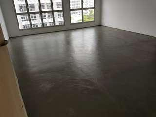 Cement floor screeding for vinyl tiles/ epoxy coating