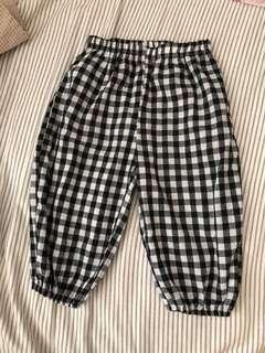 格仔褲 七分褲