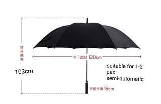 Semi-automatic green golf umbrella 89.3fm