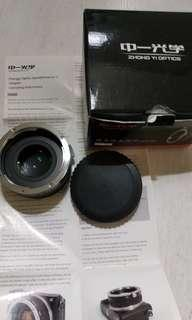 Canon EF - Sony E mount speed booster