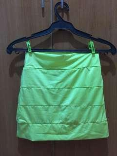 Neon Green Party Skirt