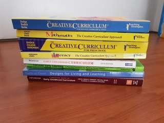Early childhood Curriculum books (free shipping)