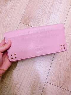 Celine粉紅色長夾
