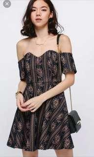 Love Bonito beafea lace off shoulder dress