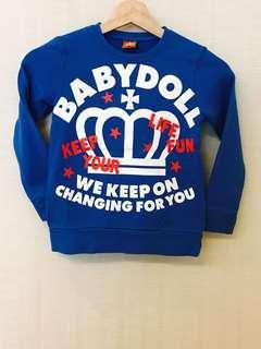 🚚 日本 BabyDoll 兒童冬天長袖上衣 Size 120-130 cm.