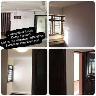 Resale / occupied flat painting services! One day completion! Resonable price