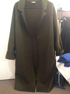 Khaki colour long jacket