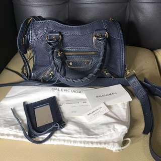 Balenciaga mini edge city navy