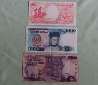 Indonesia Vintage Currency - 3pcs