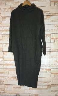 Dark Grey Knitted long dress