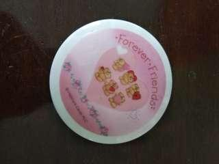 Forever friends glass cup lid cover