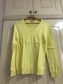 Yellow uniqlo xl long sleeves shirt