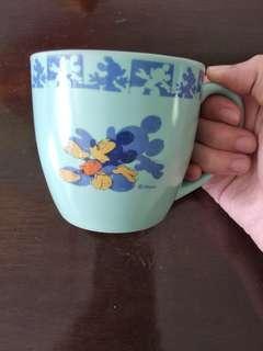 Vintage Mickey mouse Disney glass mug