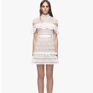 Self Portrait Lace Dress white