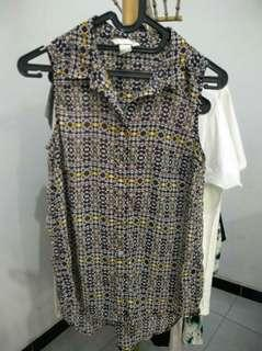 H&M tribal sleeveless top