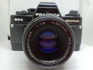 Praktika BCA with Pentacon Prakticar 50mm f1.8 MC & Praktica Leather Case