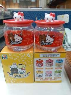 7-11玻璃樽 x Line Friends x Sanrio Characters  樽樽滿JOY玻璃樽系列