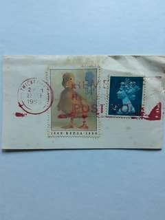 GBSTM. England stamps. 34p 1990-01-23 150th Anniversary of R.S.P.C.A.