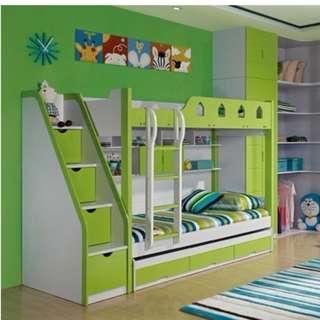 皇宮床 碌架床 雙層床 Europe 雙層床 兒童床 組合床 書架床 子母床 油壓床 三尺床 3尺床 181006r