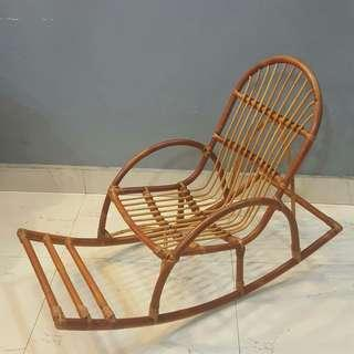Kids 3-10 years old Cane Rocking Chair