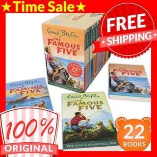 [ORIGINAL] Enid Blyton The Famous Five Box Set (22 Books)
