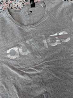 Adidas silver/grey shirt