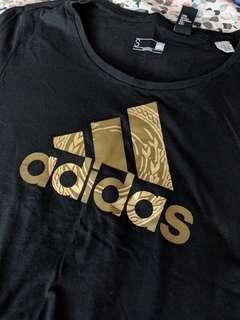 Adidas black / gold shirt