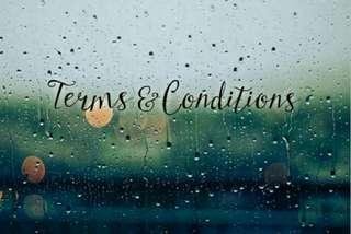 Terms and conditions!