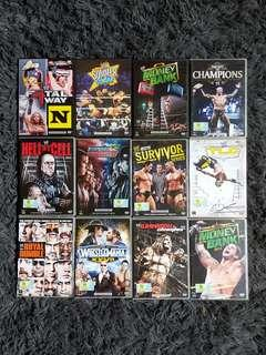 [REDUCED] WWE DVDs Pay-per-views 2010-2011