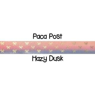 Paca Post Hazy Dusk Washi Tape Samples