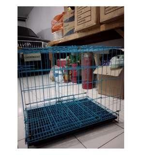 Kandang Anjing/ Kucing Large 2 Pintu Plus Tatakan