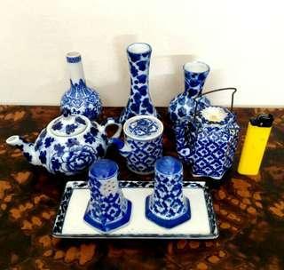 Mini Blue/white Porcelain collection