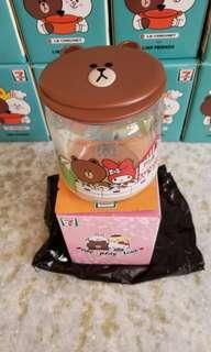 全新 7~11 Sanrio 玻璃樽 Brown Melody 一個