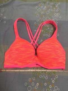 Cotton on sport bra 螢光橙紅色