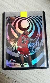 1998 Hoops High Voltage Dennis Rodman NBA card