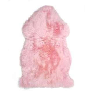 Pink fluffy fur rug