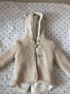 Baby Sweater jacket Zara size 9/12 can fit 1-2 years