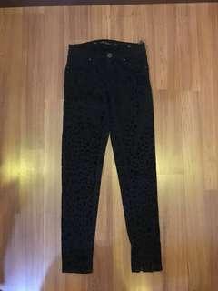 Zara woman printed slim fit jeans #Seppayday