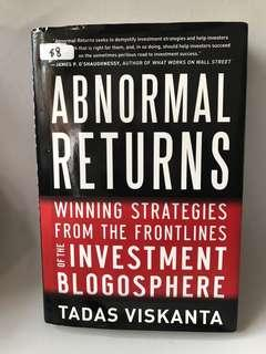 🚚 Used Book- Investment Abnormal Returns (Hard Cover)