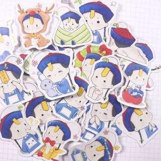 Boy Zombie Sticker Pack