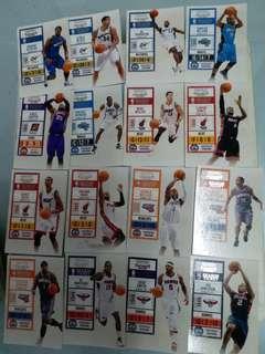 NBA卡一套 kobe curry James wade Lakers